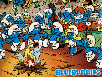 Smurfs_Color_Pictures_Smurf_Campfire